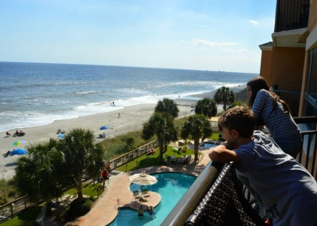 myrtle beach hotel with balcony