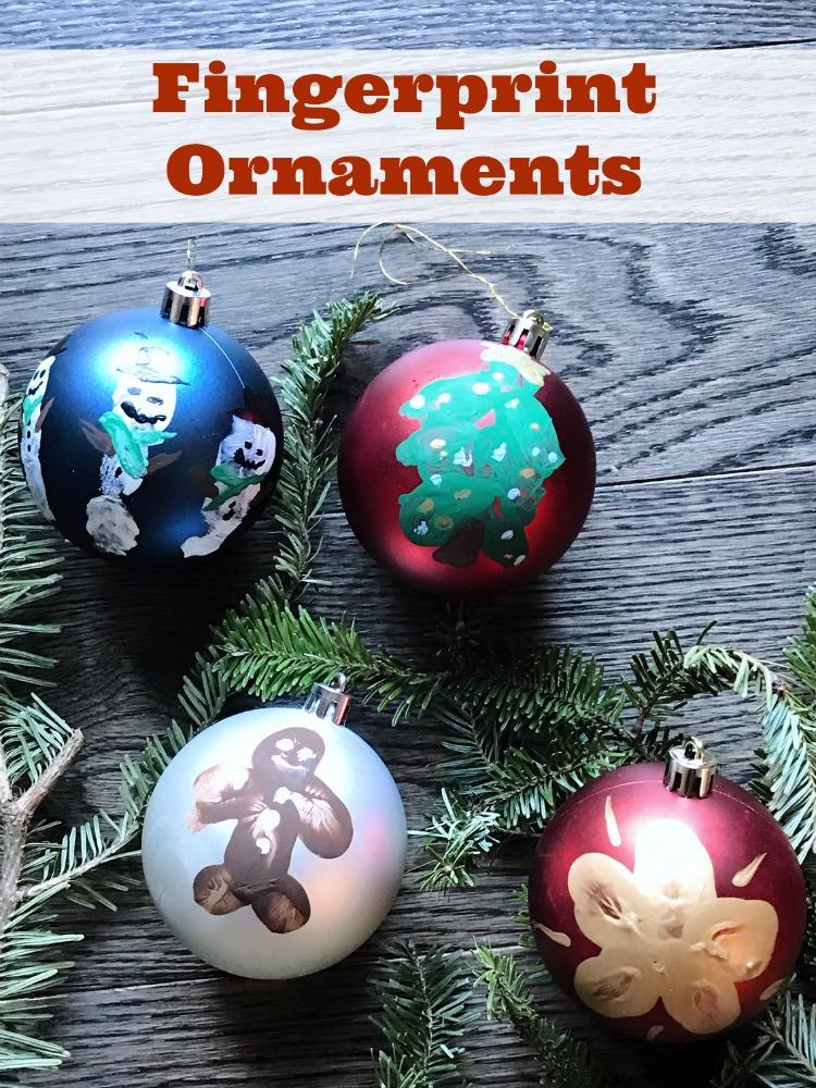 Fingerprint Christmas Ornaments