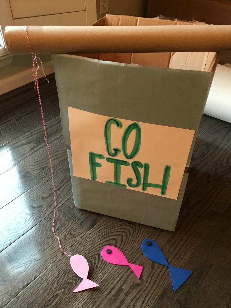 Cardboard Box Go Fish Game