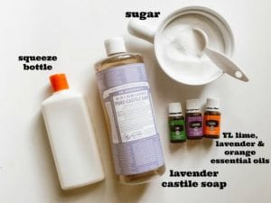 how to make homemade exfoliating body wash