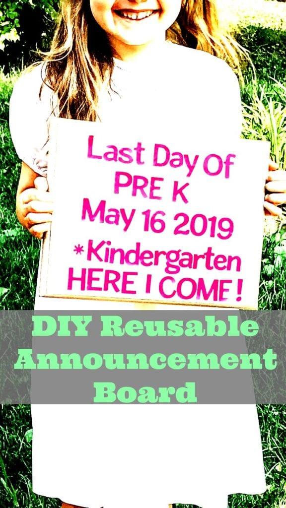 diy announcement board