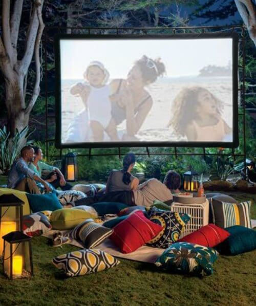 movie night summer party ideas