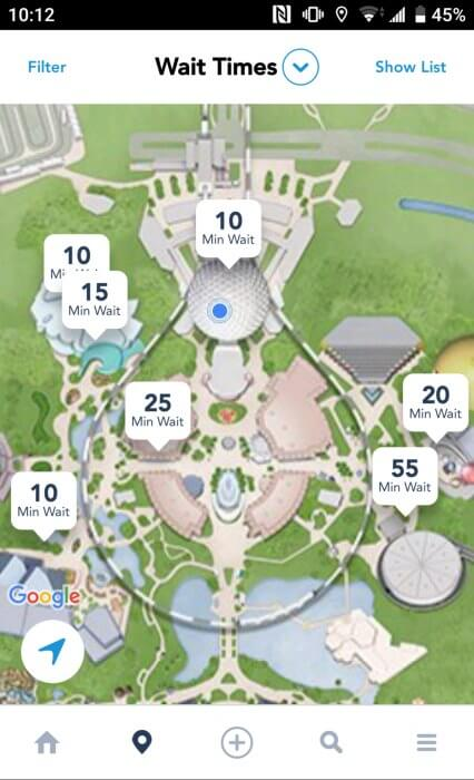 disney ride wait times