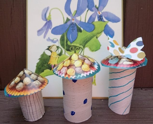 toilet paper toadstool craft