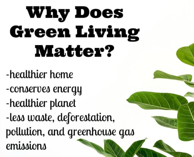 why green living is important