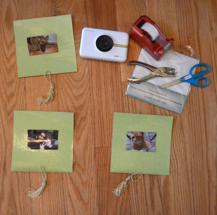 diy polaroid picture frames