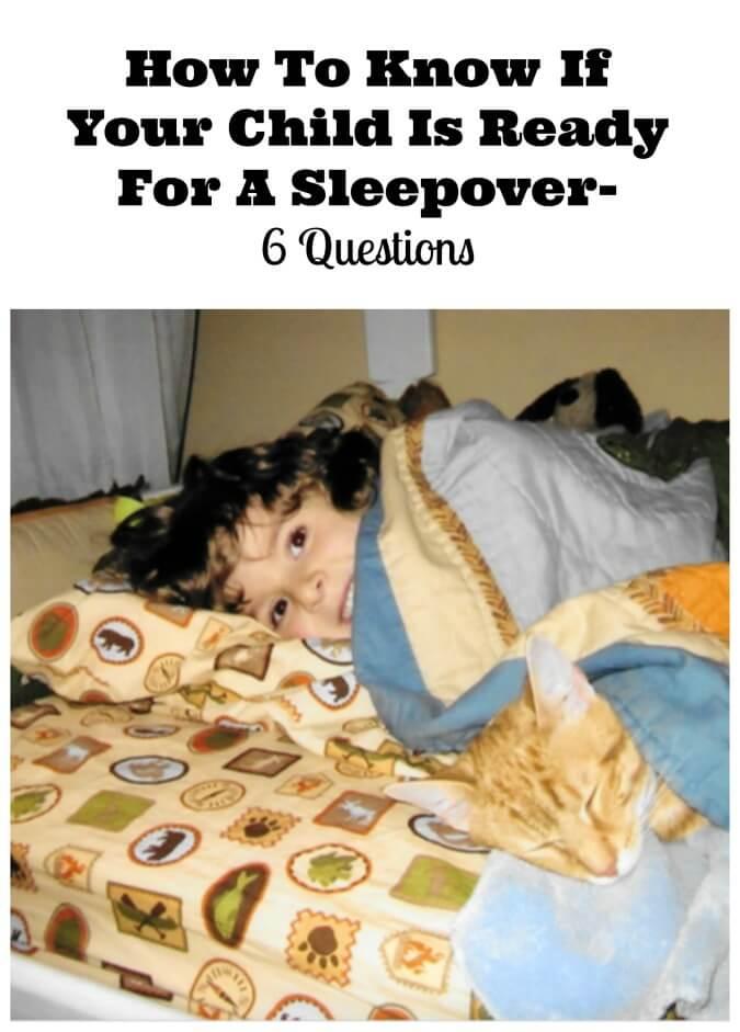 ready for a sleepover?