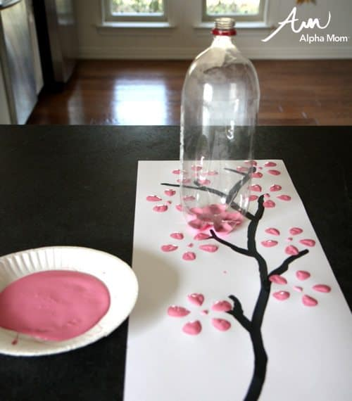 cherry blossom plastic bottle stamp