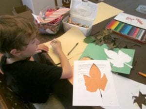 fall paper placemats craft