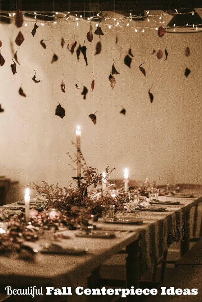 fall table centerpiece ideas