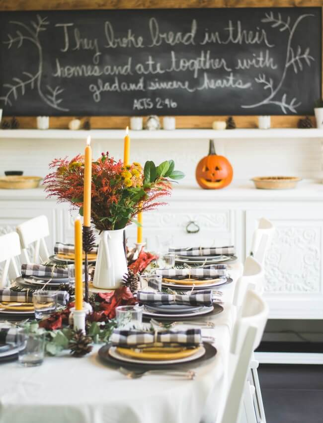 fall table centerpieces decorations