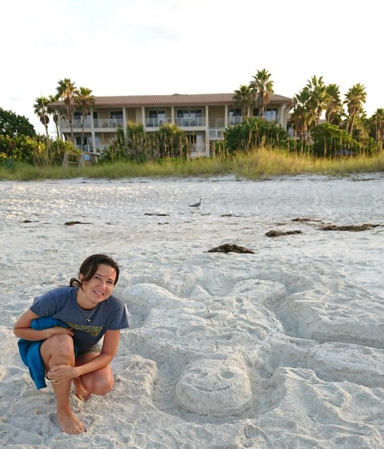 anna maria island sand sculpture