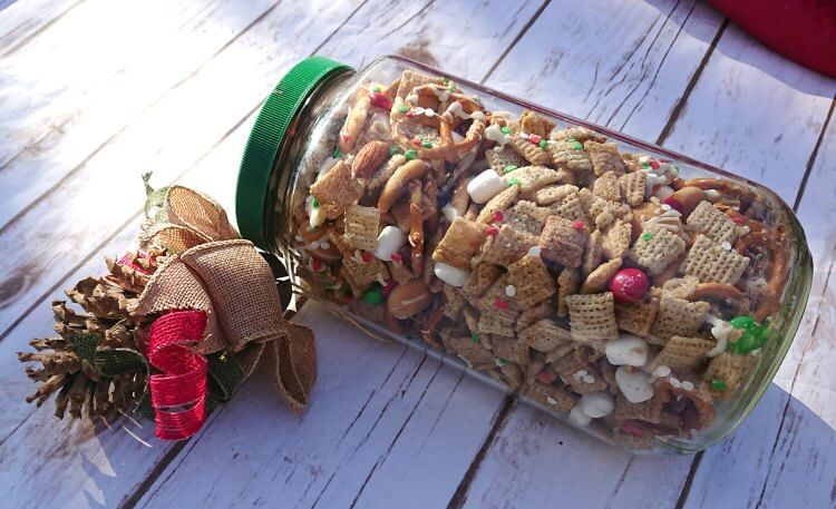 christmas chex mix gift