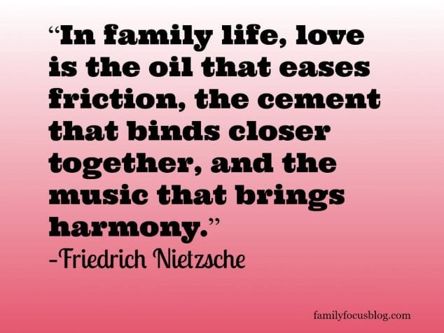 In family life, love is the oil that eases friction