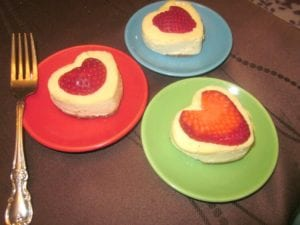 heart shaped cheesecake recipe
