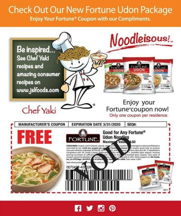 fortune udon coupon