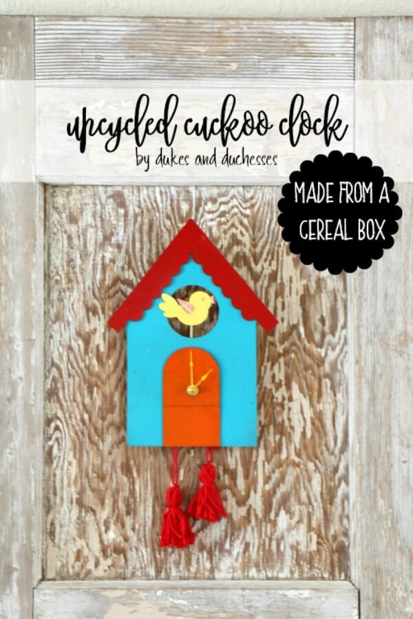 cereal box cuckoo clock