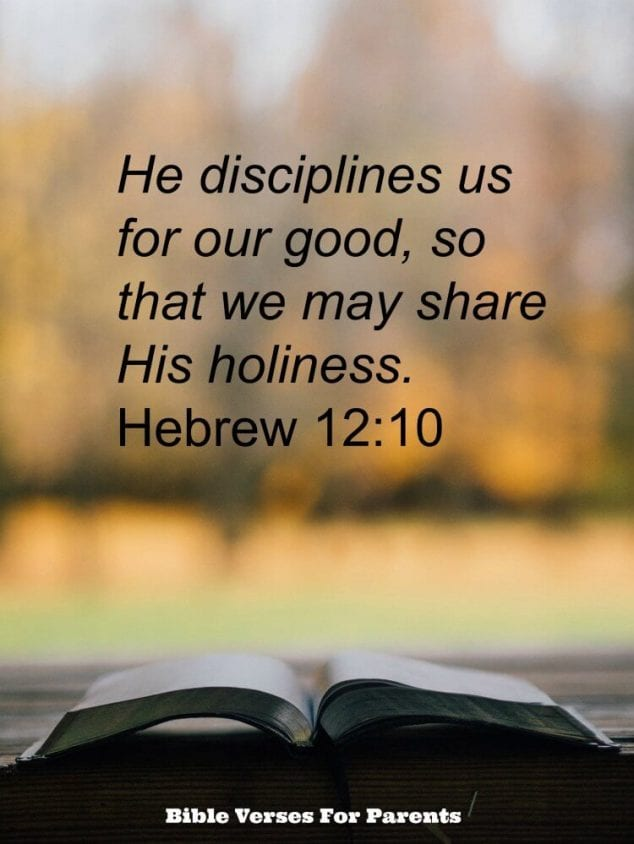 He disciplines us for our good