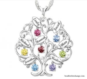 family birthstone necklace mother's day gift idea