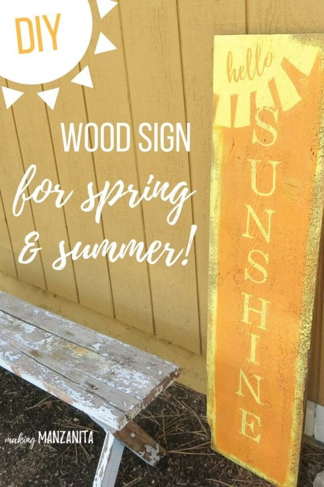 hello sunshine wood sign