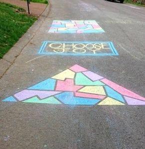 sidewalk chalk art ideas