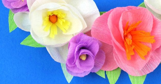 crepe paper flowers craft