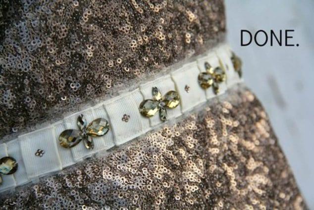 homemade rhinestone belt