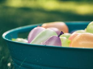 summer activity water balloons