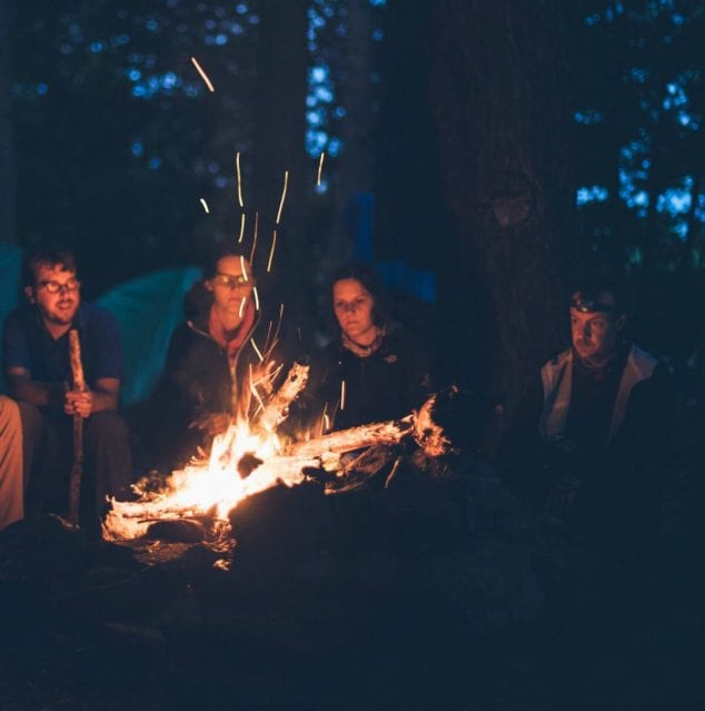 winter campfire- winter outdoor activities