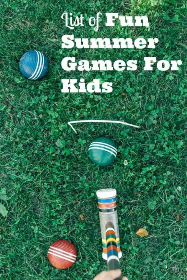 fun summer games for kids