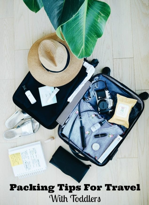 packing tips for travel with toddlers