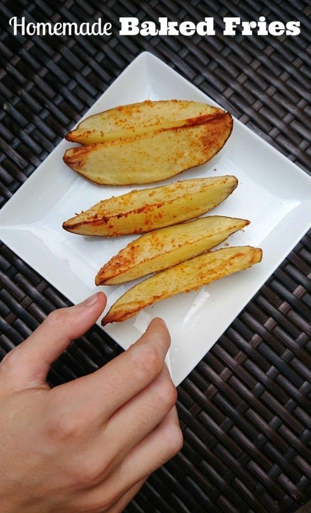 homemade baked fries