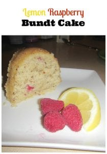 lemon raspberry bundt cake recipe