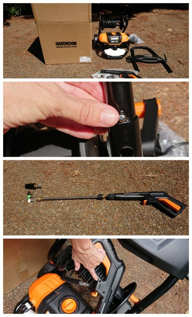 worx pressure washer assembly