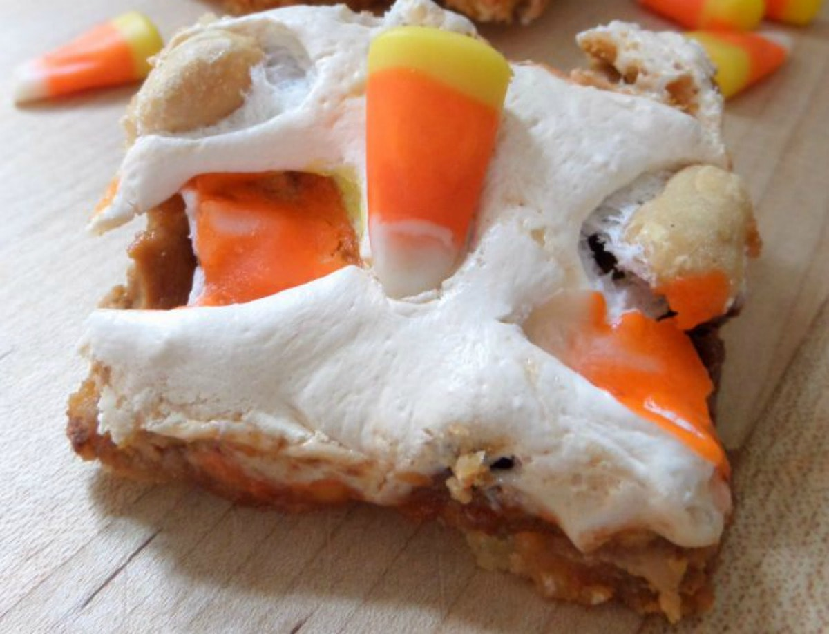 candy corn cookies bars