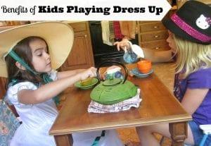 kids playing dress up