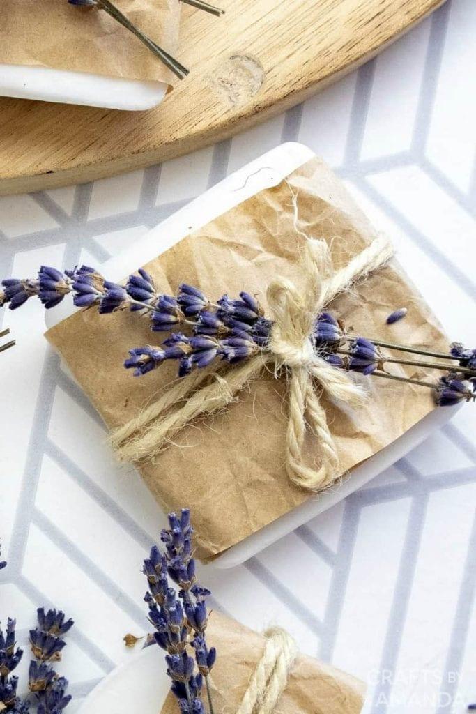 diy lavender soap gift