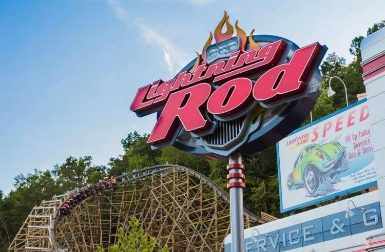 lightning rod coaster