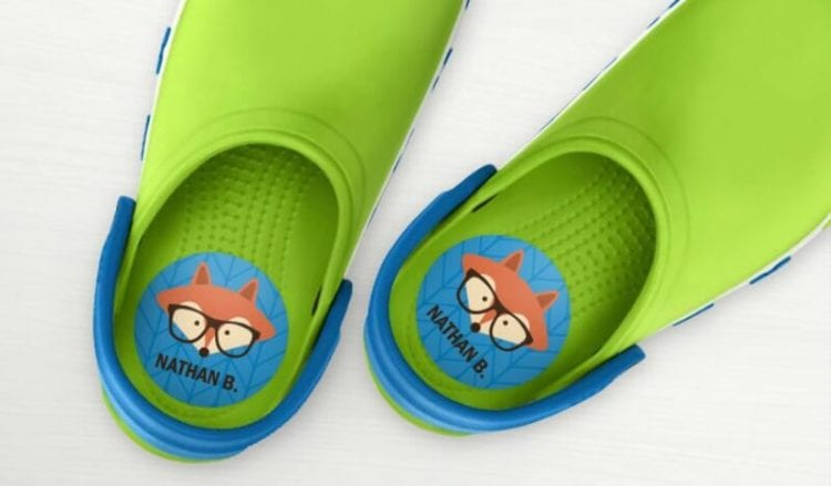 kids shoe labels