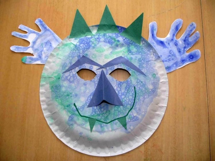 bubble print craft for kids