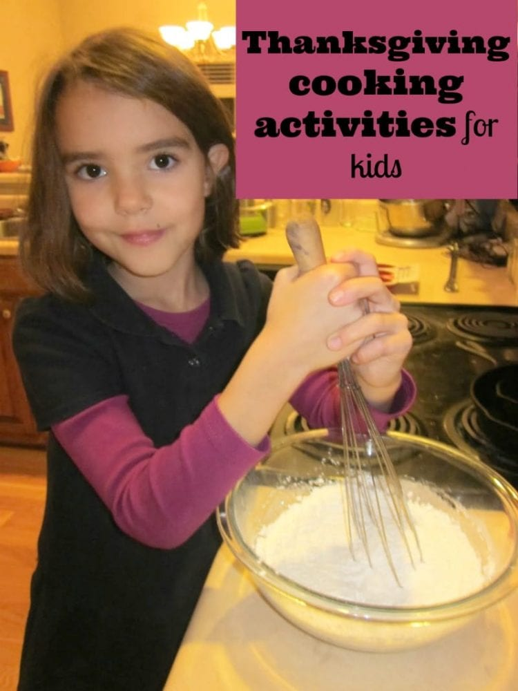 thanksgiving cooking activities for kids