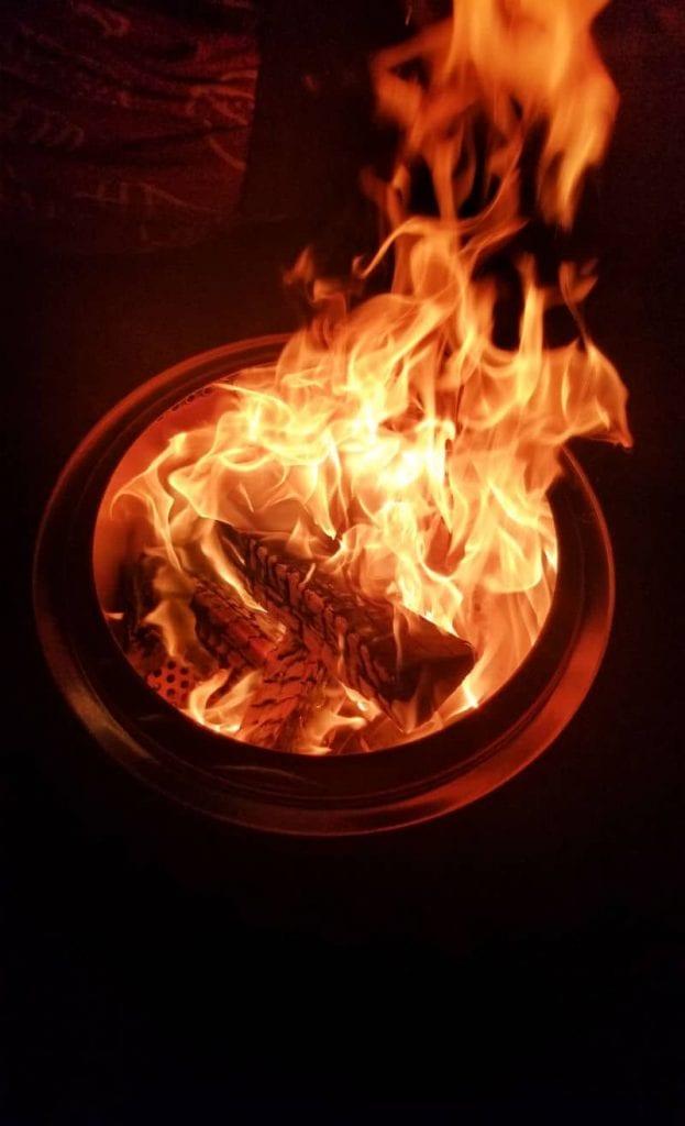 efficient burning fire pit