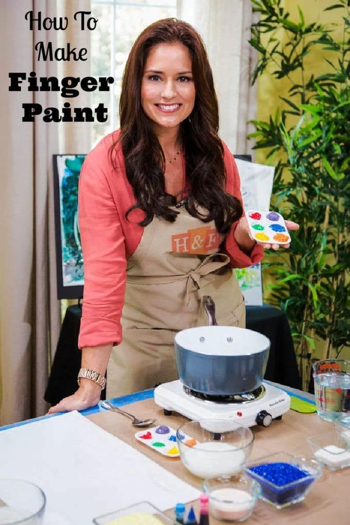 DIY finger paint