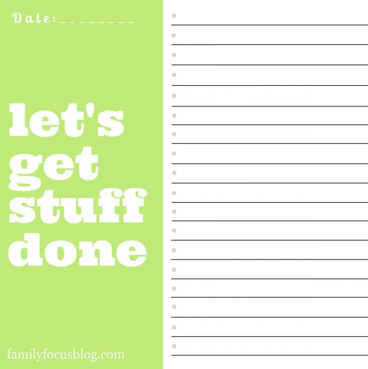 get stuff done printable