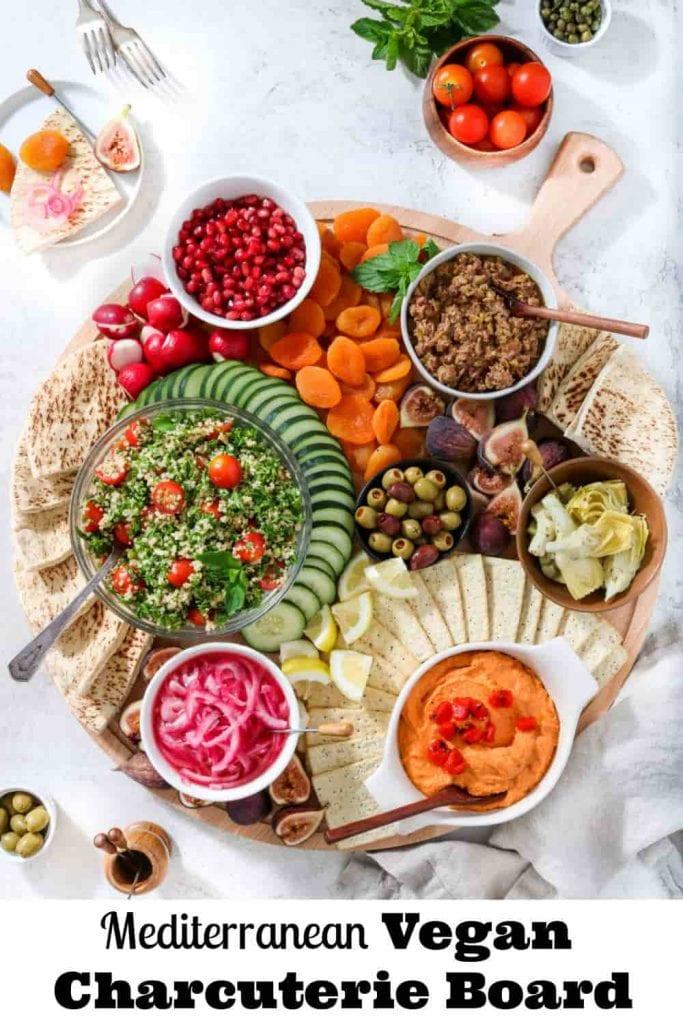Mediterranean Vegan Charcuterie Board