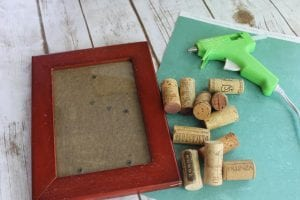 diy dry erase board picture frame supplies