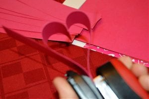 paper heart chain steps