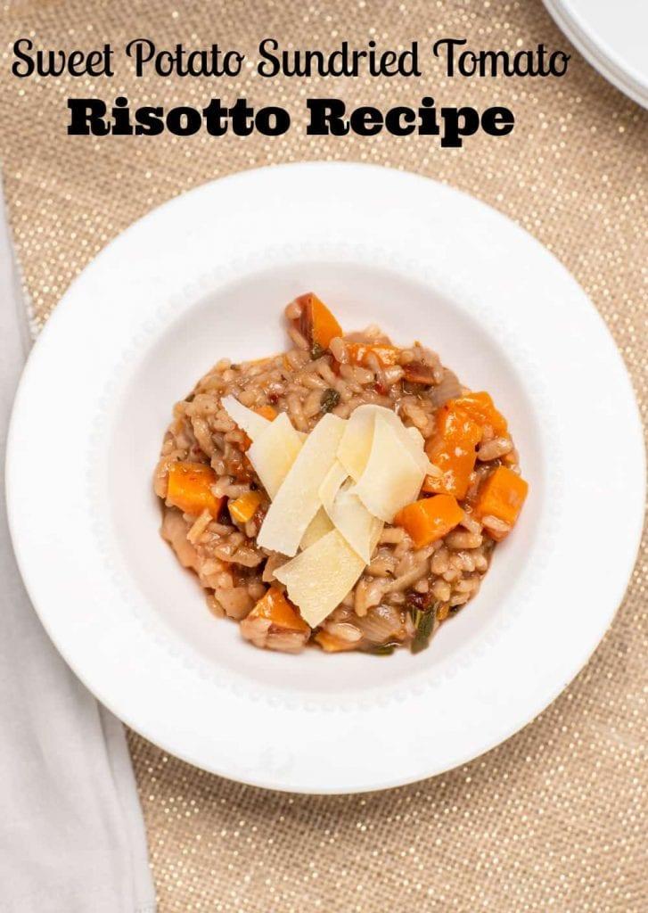sweet potato sundried tomato risotto