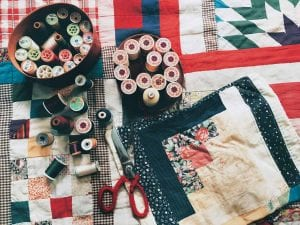 old clothing memory quilt
