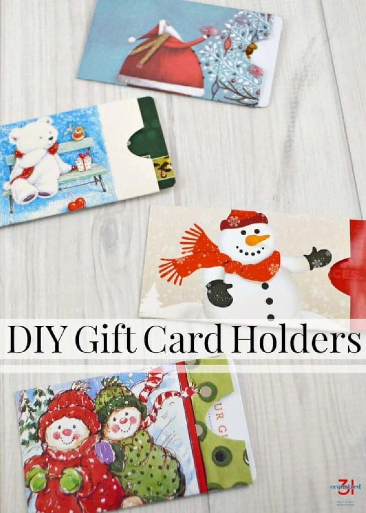 how to turn a greeting card into gift card holders